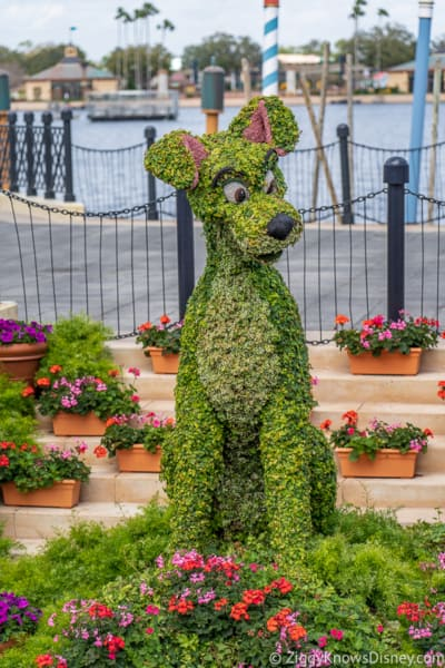 Tramp Topiary Epcot Flower and Garden Festival
