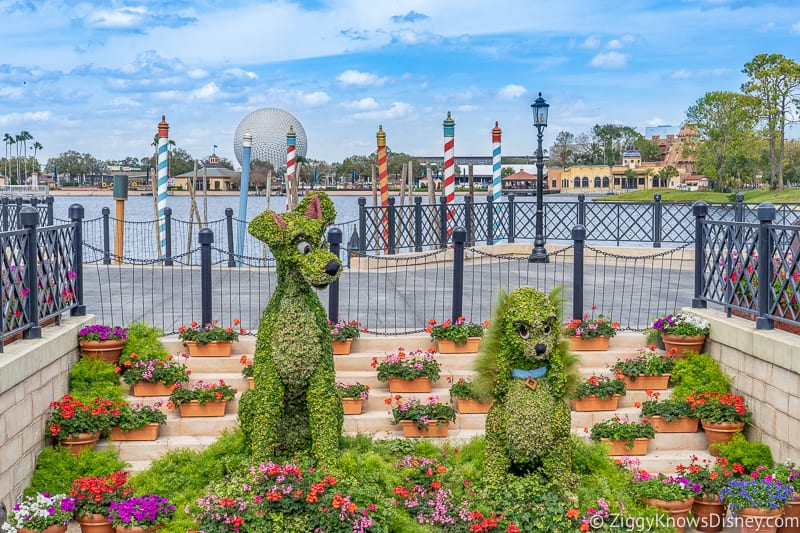 Topiaries Epcot Flower and Garden Festival Lady and the Tramp