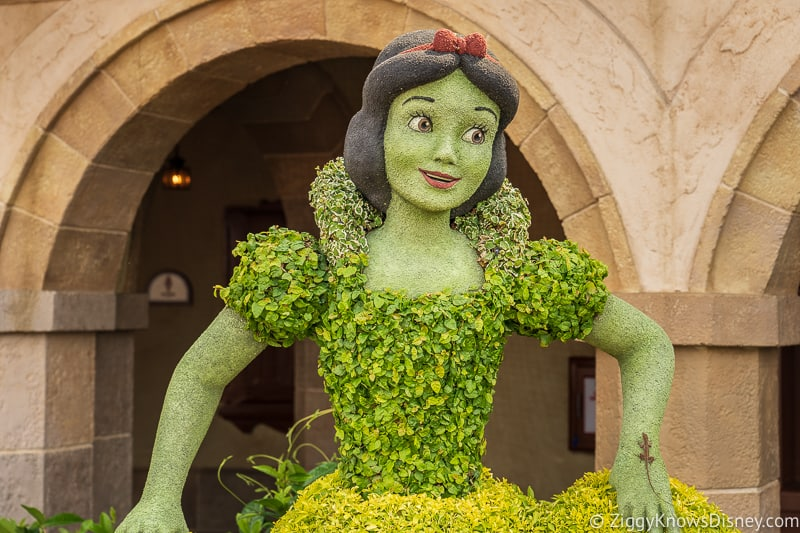 Snow White Topiary Epcot Flower and Garden Festival