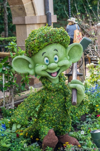 Dopey Topiary Epcot Flower and Garden Festival