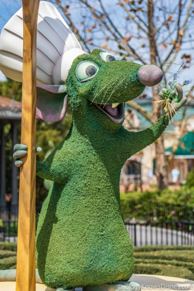Remy's Ratatouille Topiary Epcot Flower and Garden Festival