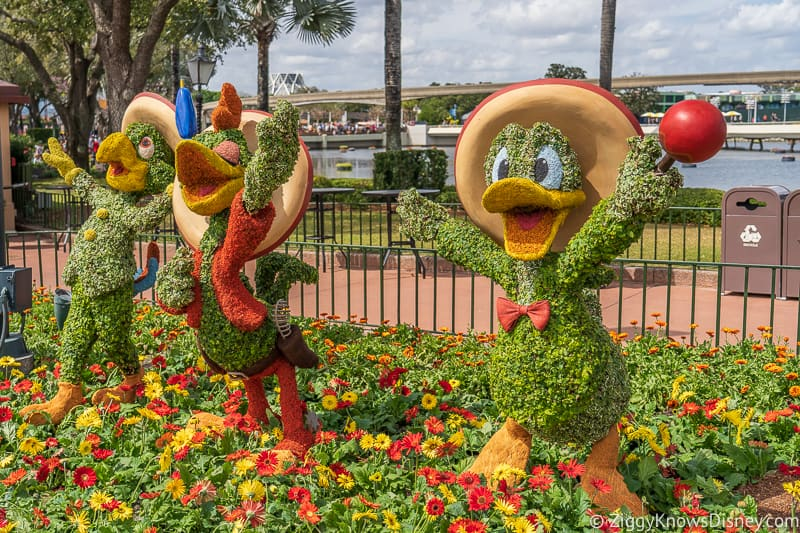 The Three Caballeros Topiaries Epcot Flower and Garden Festival