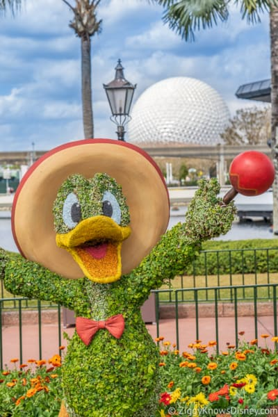 Donald Duck Three Caballeros Topiary Epcot Flower and Garden Festival