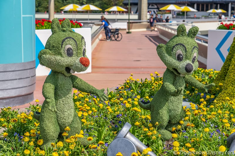 Chip and Dale Topiaries Epcot Flower and Garden Festival