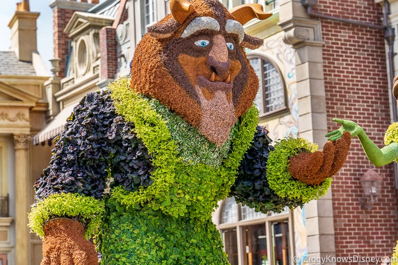 The Beast Topiary Epcot Flower and Garden Festival