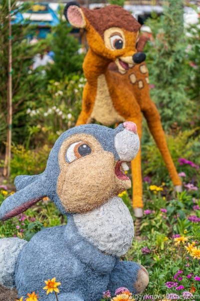 Thumper and Bambi Topiaries Epcot Flower and Garden Festival