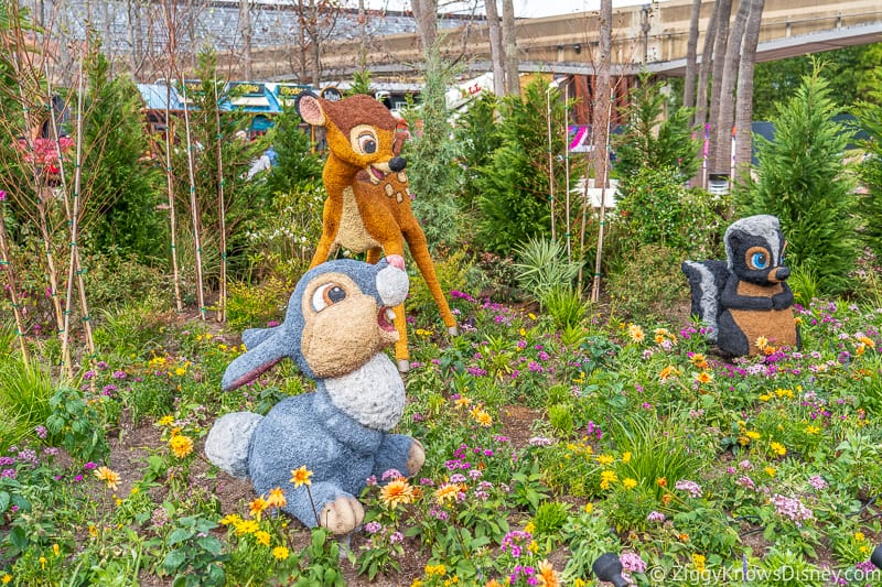 Bambi and Friends Topiaries Epcot Flower and Garden Festival
