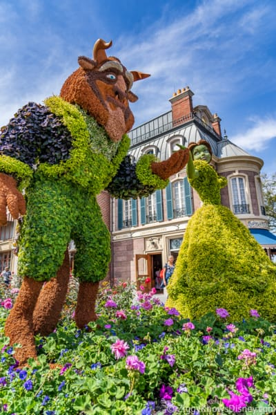 Beauty and the Beast Topiaries Epcot Flower and Garden Festival