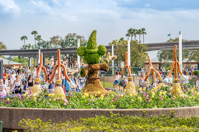 Mickey Mouse Fantasia Topiaries Epcot Flower and Garden Festival