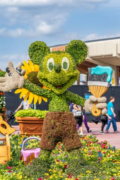 Mickey Mouse Topiary Epcot Flower and Garden Festival
