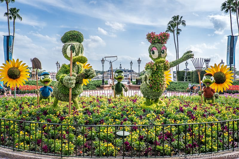 Donald and Daisy Duck Topiaries Epcot Flower and Garden Festival