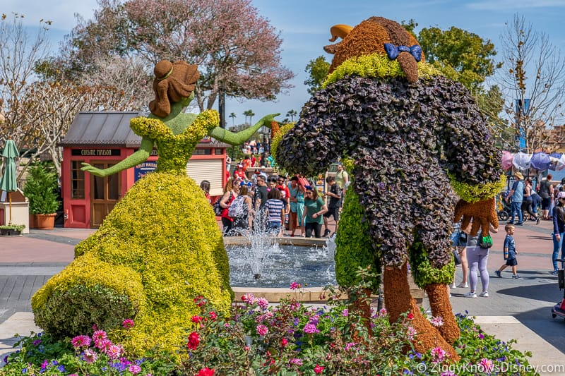 Beauty and the Beast France Topiaries Epcot Flower and Garden Festival