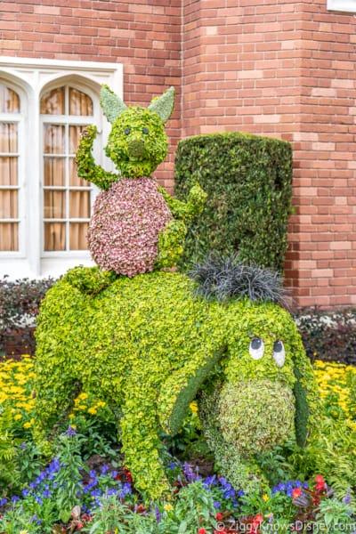 Piglet Eeyore Topiary Epcot Flower and Garden Festival