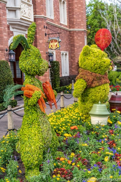 Rabbit and Pooh Topiary Epcot Flower and Garden Festival