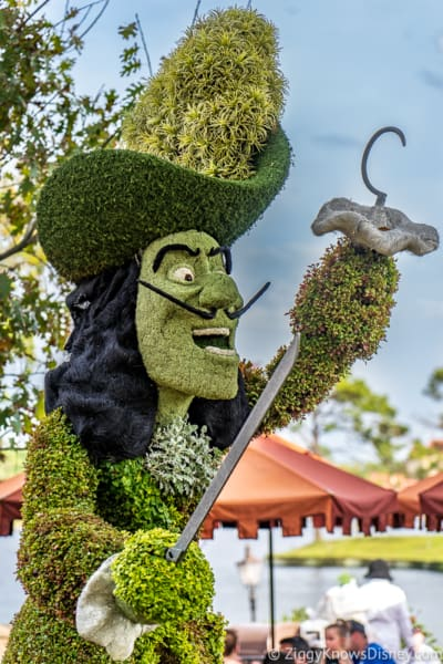 Captain Hook Topiary Epcot Flower and Garden Festival