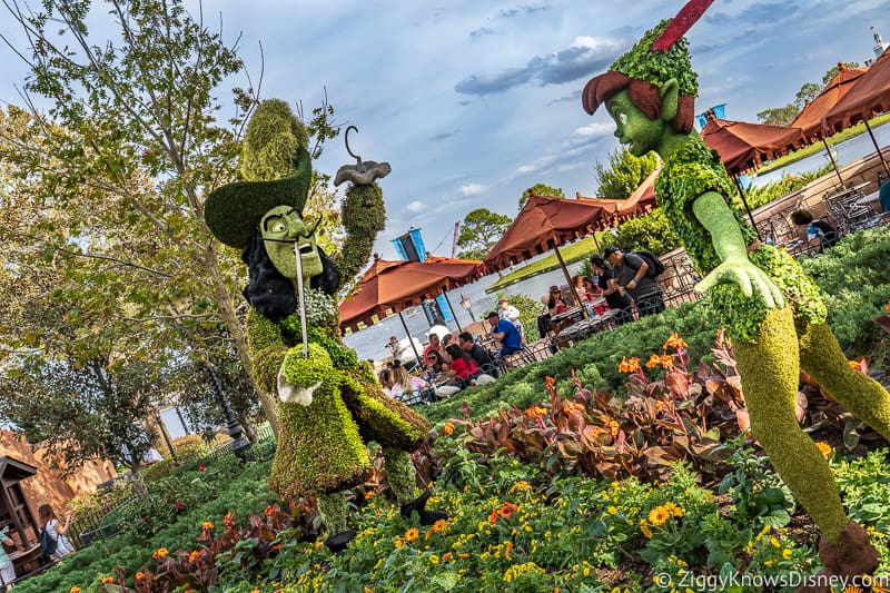 Peter Pan and Captain Hook Topiaries Epcot Flower and Garden Festival
