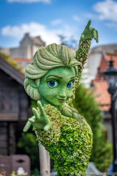 Elsa Frozen Topiary Epcot Flower and Garden Festival
