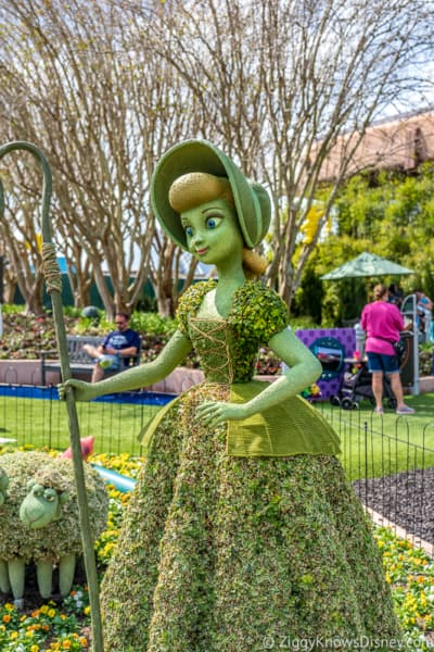 Bo Peep Topiary Epcot Flower and Garden Festival