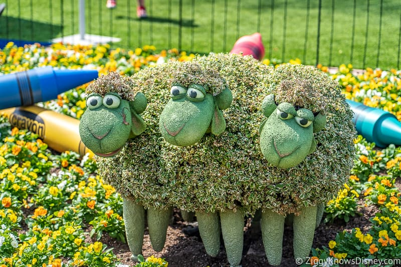 3 sheep Topiaries Epcot Flower and Garden Festival