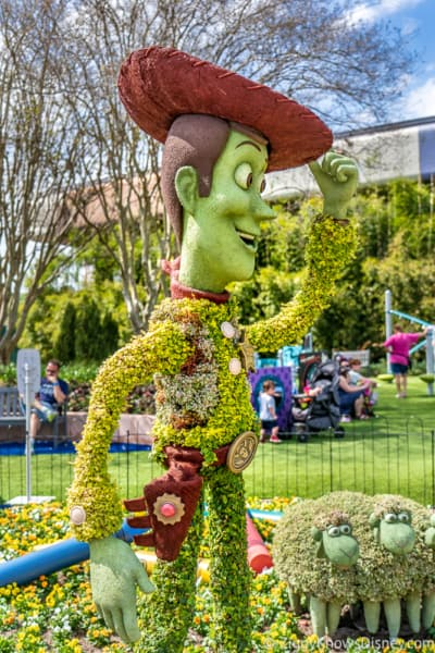Woody Topiary Epcot Flower and Garden Festival