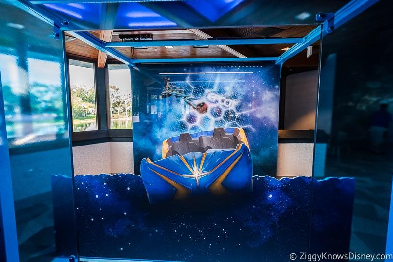 Guardians of the Galaxy: Cosmic Rewind Roller Coaster car