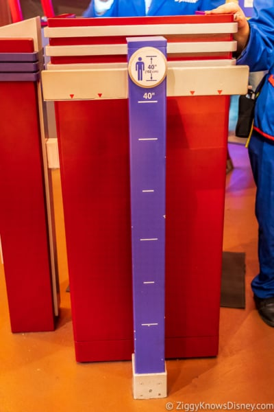 Height for Cosmic Rewind Roller Coaster