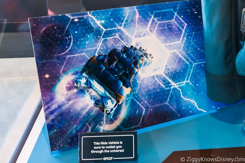 ride vehicle for Guardians of the Galaxy: Cosmic Rewind Roller Coaster