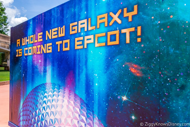 Guardians of the Galaxy ride coming to Epcot sign