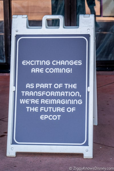 new changes coming to Epcot sign