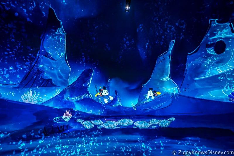 Mickey and Minnie's Runaway Railway underwater