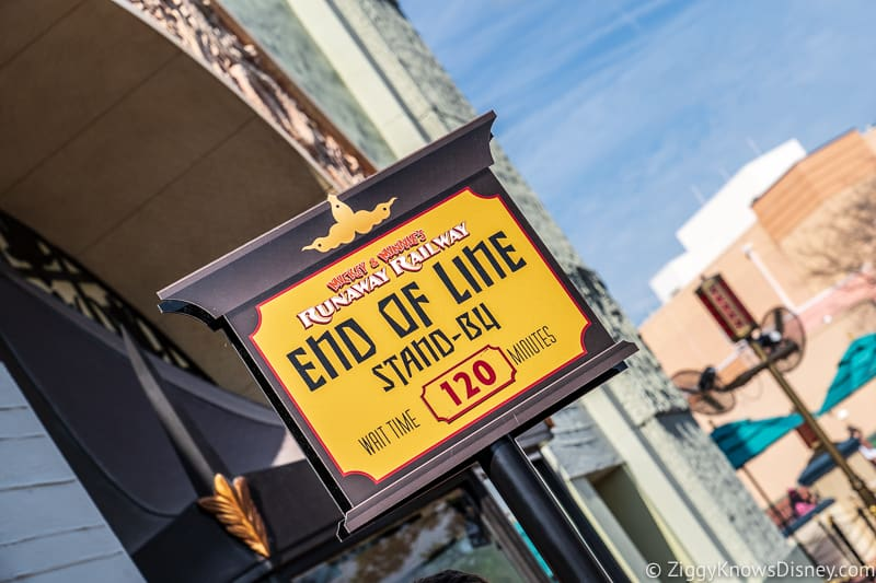 end of the line sign Mickey and Minnie's Runaway Railway