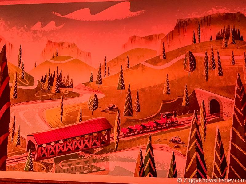 Mickey and Minnie's Runaway Railway painting