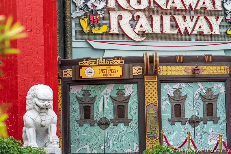 FastPass Entrance Mickey and Minnie's Runaway Railway