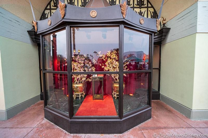 display window outside Chinese Theater Mickey and Minnie's Runaway Railway