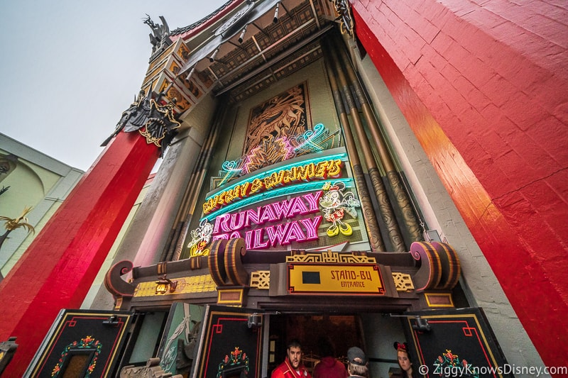 going inside Mickey and Minnie's Runaway Railway