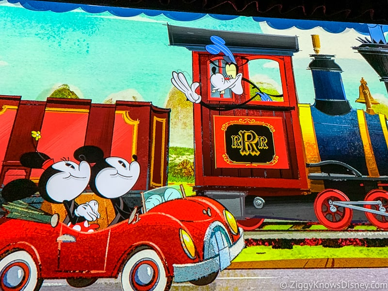 Goofy in train Mickey and Minnie's Runaway Railway