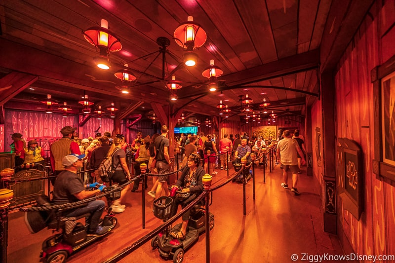 Mickey and Minnie's Runaway Railway ECV accessibility guests