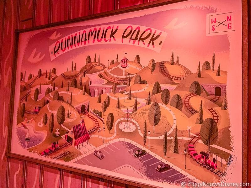 Mickey and Minnie's Runaway Railway Runnamuck Park painting