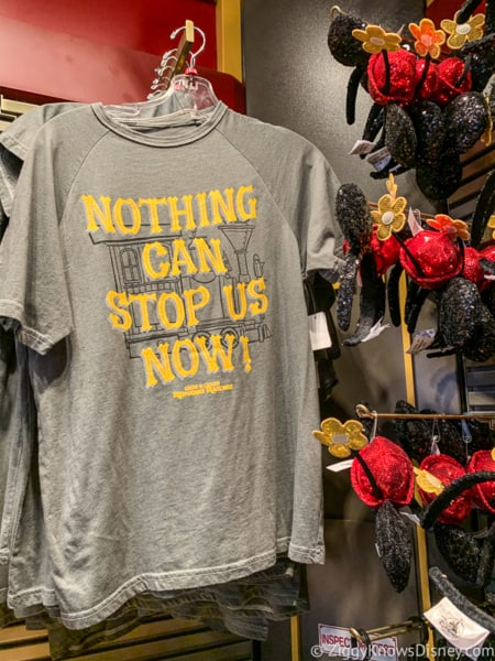 Mickey and Minnie's Runaway Railway Merchandise nothing can stop us now shirts