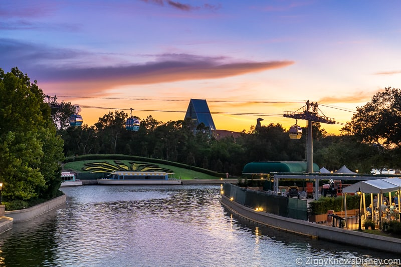 Sunset from the France Pavilion in Epcot
