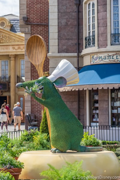 Remy's Ratatouille Adventure gardens in France Epcot
