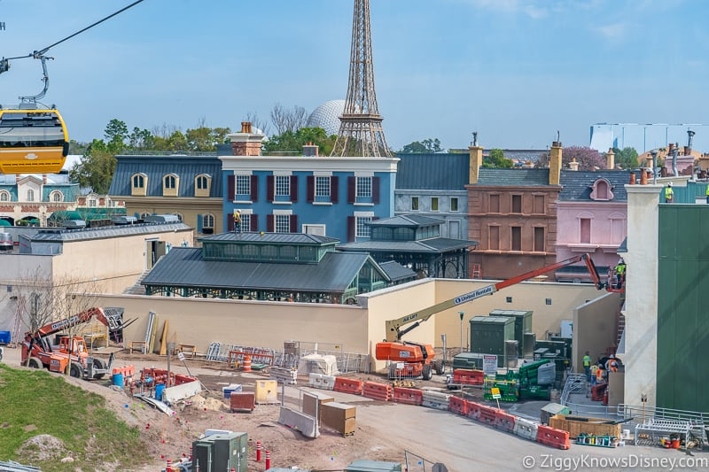 Construction of Remy's Ratatouille Adventure Epcot