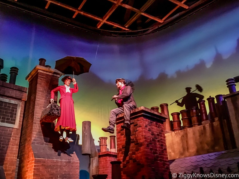 The Great Movie Ride Mary Poppins Scene