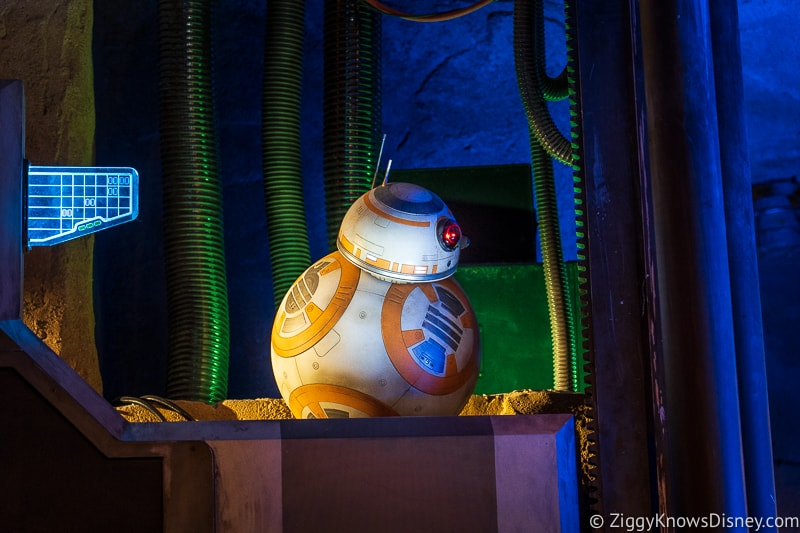 BB-8 animatronic Rise of the Resistance pre show
