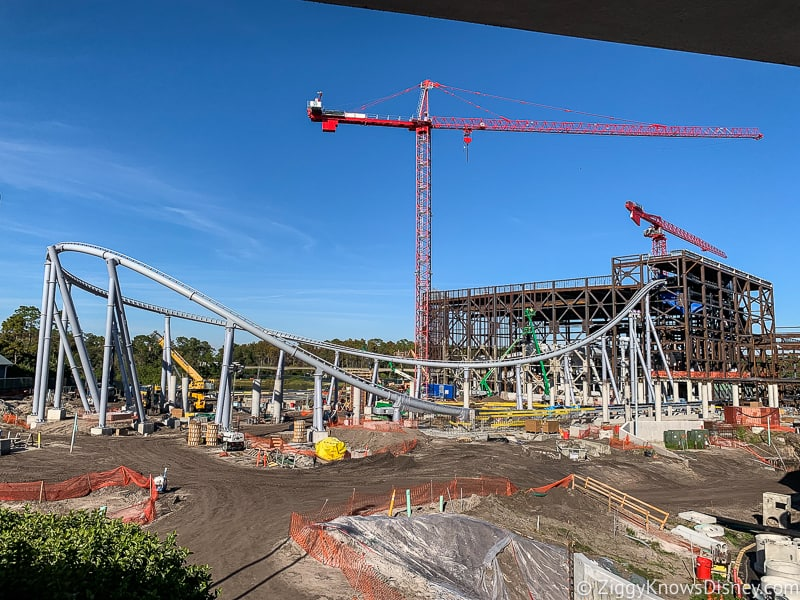 TRON Lightcycle Run construction site