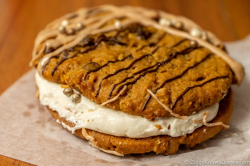 Big cream-filled cookie at All-Star Music Disney Mobile Ordering