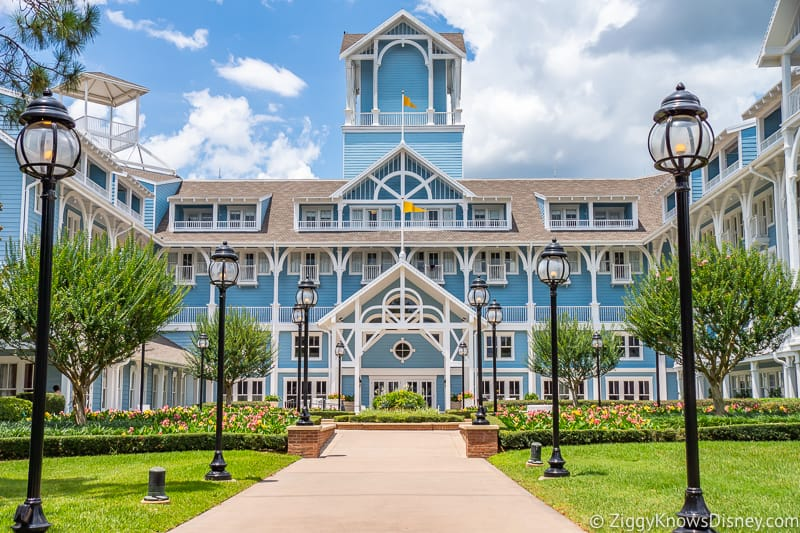 outside the Beach Club Resort Disney World