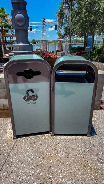 Disney Springs garbage cans