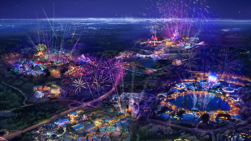 Concept Art for Disney World's 50th Anniversary celebration