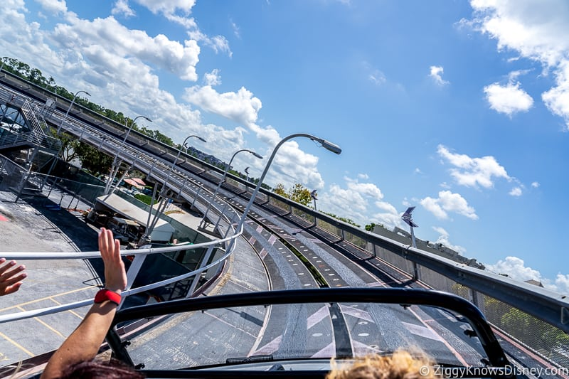 Riding Test Track in EPCOT